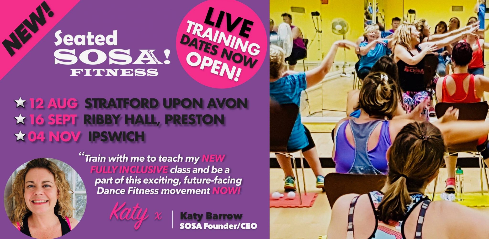 Seated SOSA Dance Fitness Instructor Training - Chair dance for EVERYONE